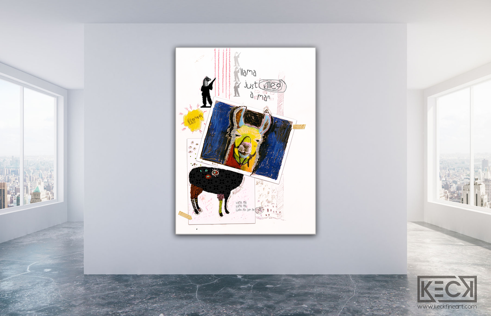 Load image into Gallery viewer, Llama art