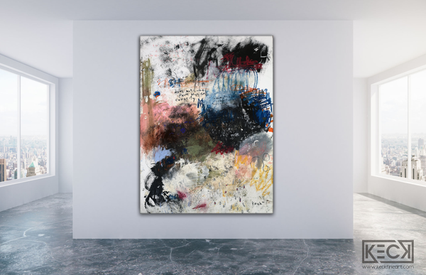Abstract Canvas Art Print <br>2020 Collection <br>Title:  Indomitable <br> Michel Keck