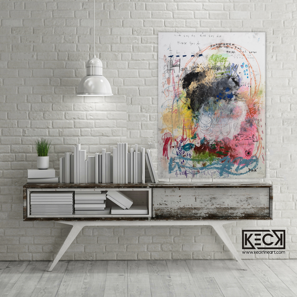 Abstract Canvas Art Print <br>2020 Collection <br>Title:  Think, Say, Do <br> Michel Keck