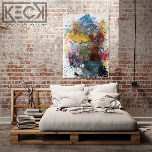Abstract Canvas Art Print <br>2020 Collection <br>Title:  Eight <br> Michel Keck
