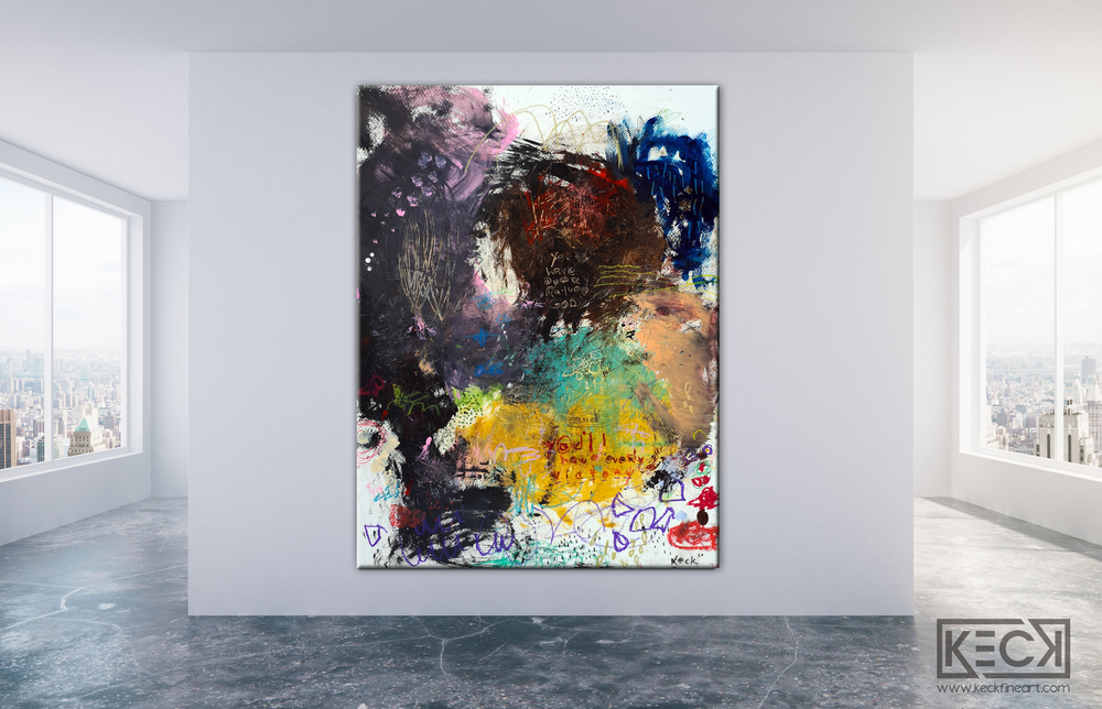 Abstract Canvas Art Print <br>2020 Collection <br>Title:  every victory <br> Michel Keck