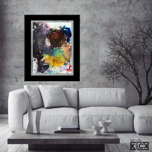 abstract art painting with lauren daigle lyric by Michel Keck