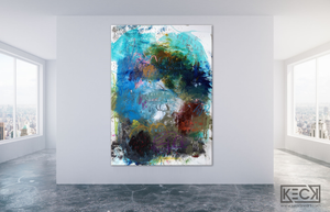 Abstract Canvas Art Print <br>2020 Collection <br>Title:  Eight II<br> Michel Keck