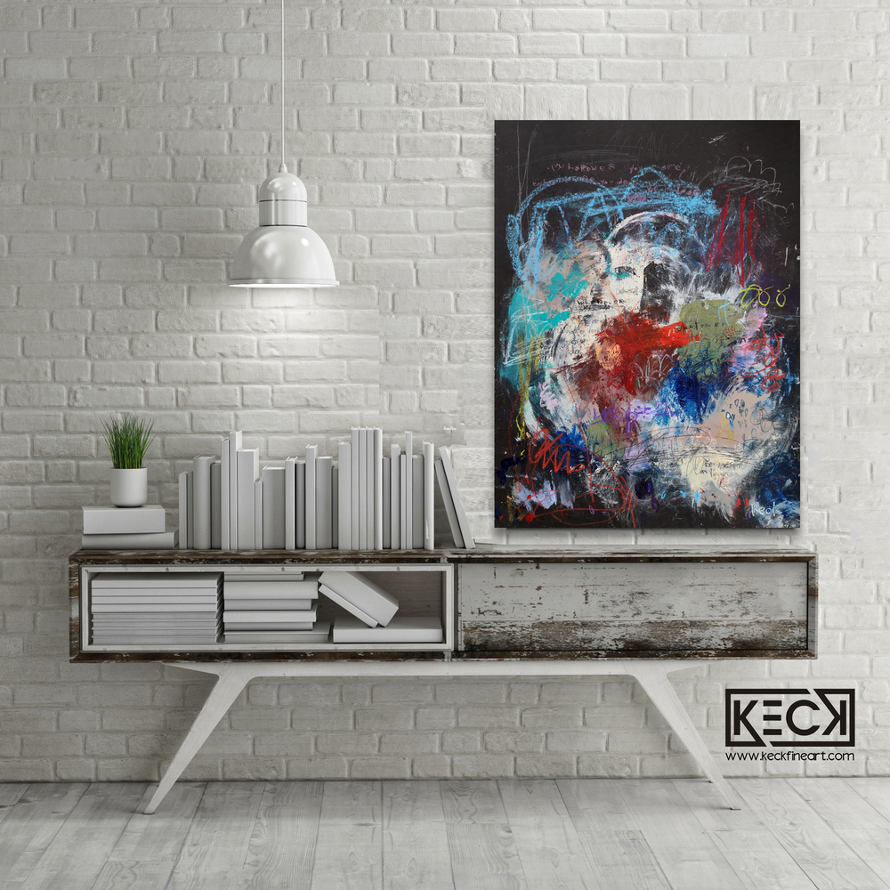 Abstract Canvas Art Print <br>2020 Collection <br>Title:  be in love<br> Michel Keck