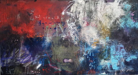 Abstract paintings with Chinese Proverbs by Michel Keck