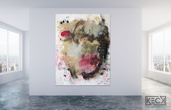 Abstract Canvas Art Print <br>2020 Collection <br>Title:  Jeremiah 29v13 <br> Michel Keck