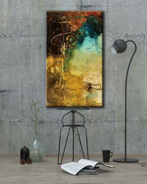 ABSTRACT ART Canvas Print of Wake Up Call