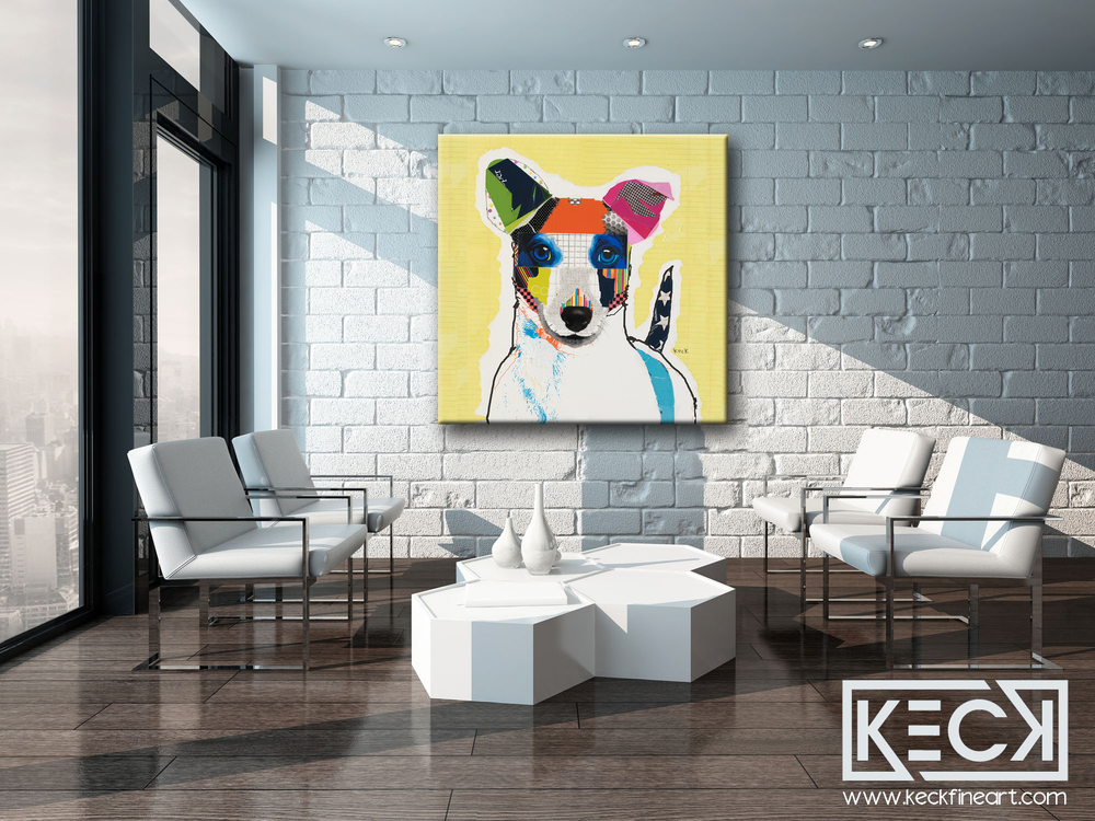 Load image into Gallery viewer, Abstract Dog Art Collage Canvas Prints Forsale