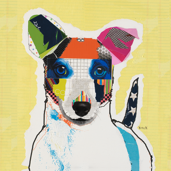 Jack Russell Terrier Dog Art by Michel Keck