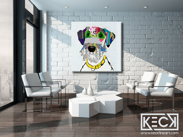 Airedale Terrier Pop Art. Airedale terrier large canvas art prints. Airedale Terrier dog art wholesale and retail.