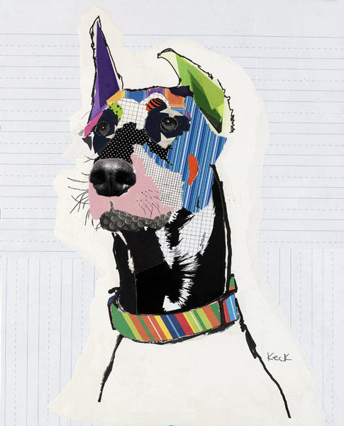 Original Dog Art Collage: Doberman