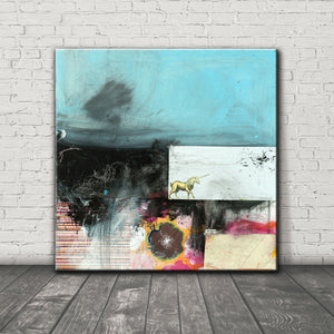 Load image into Gallery viewer, MIXED MEDIA Canvas Print of Someday
