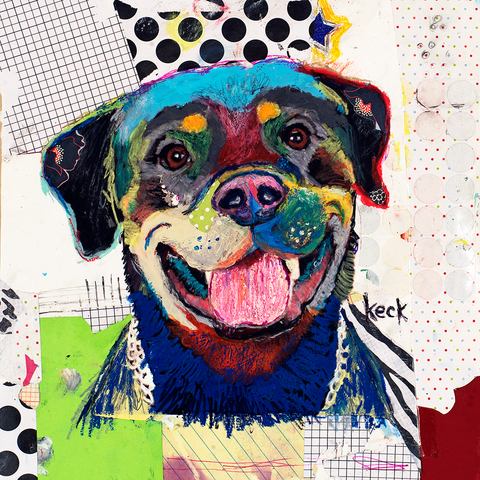 Rottweiler Dog Art Prints by Michel Keck