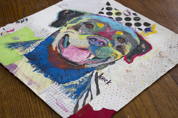 Original Dog Art Collage: Rottweiler