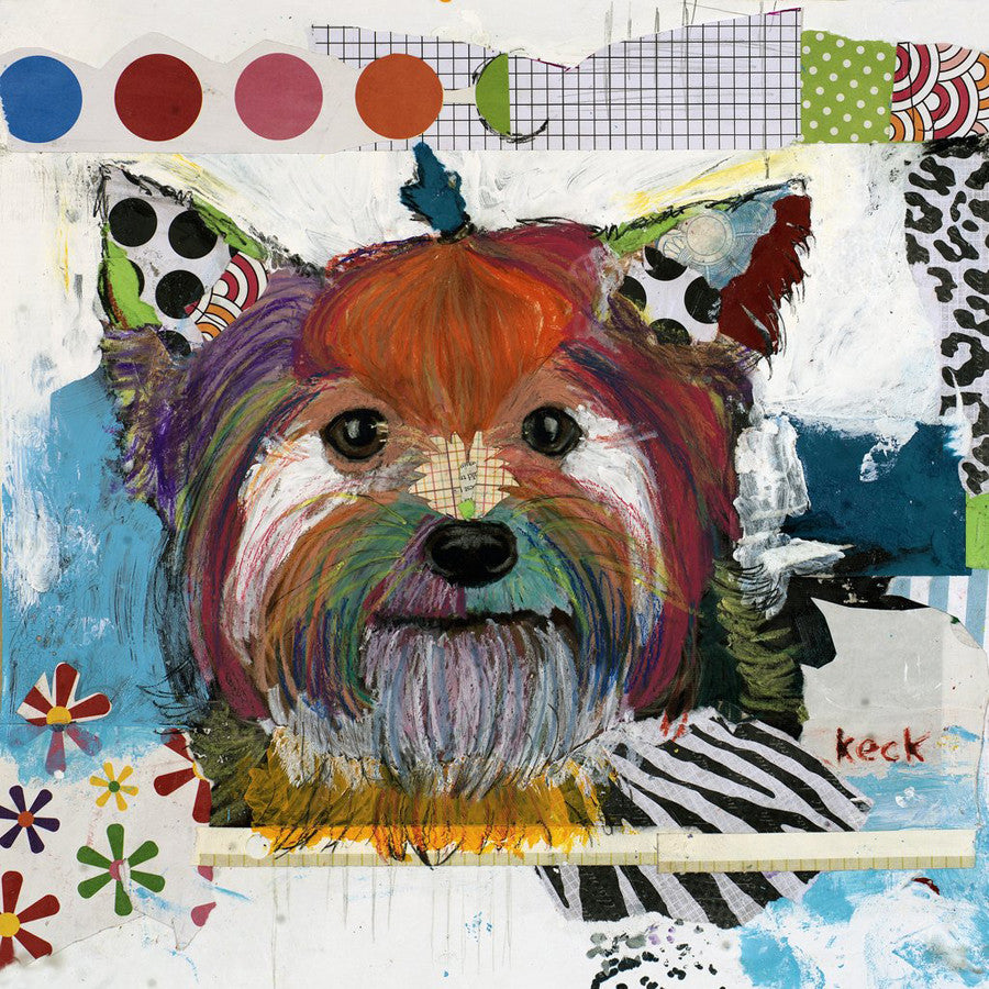 Original Dog Art Collage:  Yorkshire Terrier