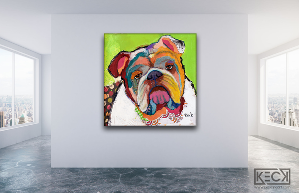 Abstract American Bulldog Art Prints