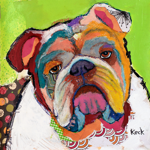 American Bulldog Art. Colorful pop art of American Bulldog. Buy american bulldog art prints by Michel Keck