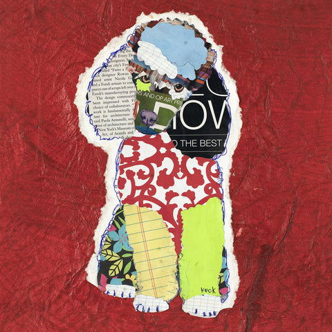 Original Dog Art Collage: Poodle