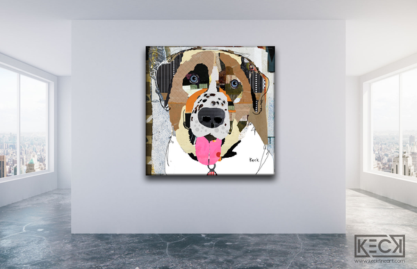 Large Scale Dog Art Prints. Anatolian Shepherd Dog Prints on canvas and paper.
