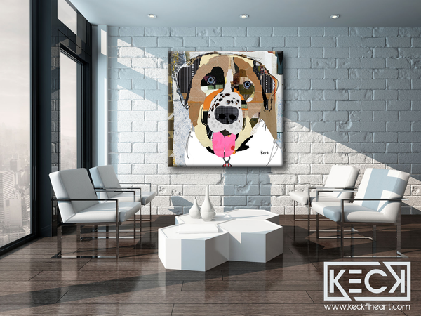 Colorful Anatolian Shepherd Dog Art Prints. Buy dog art prints of Anatolian Shepherd dogs