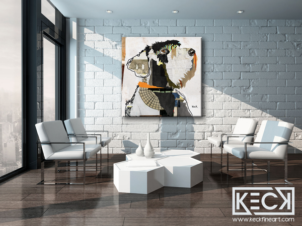 DOG ART PRINTS BY MICHEL KECK