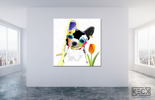 Chihuahua Art For Sale.  Buy Chihuahua Dog Art on canvas or paper prints. Oversized artwork of Chihuahua Dogs.  Colorful Chihuahua Art.