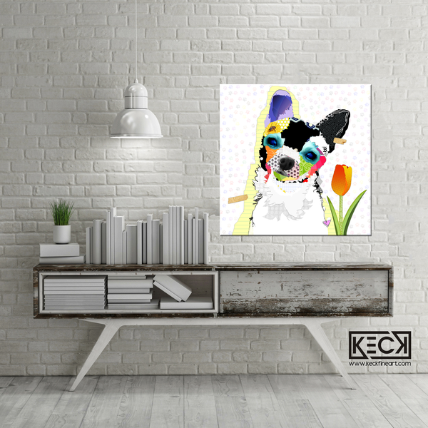 Chihuahua Canvas Art Prints.  Chihuahua Dog Art retail and wholesale.  Looking for dog art of chihuahua dogs?  Modern dog art. Chihuahua art prints.