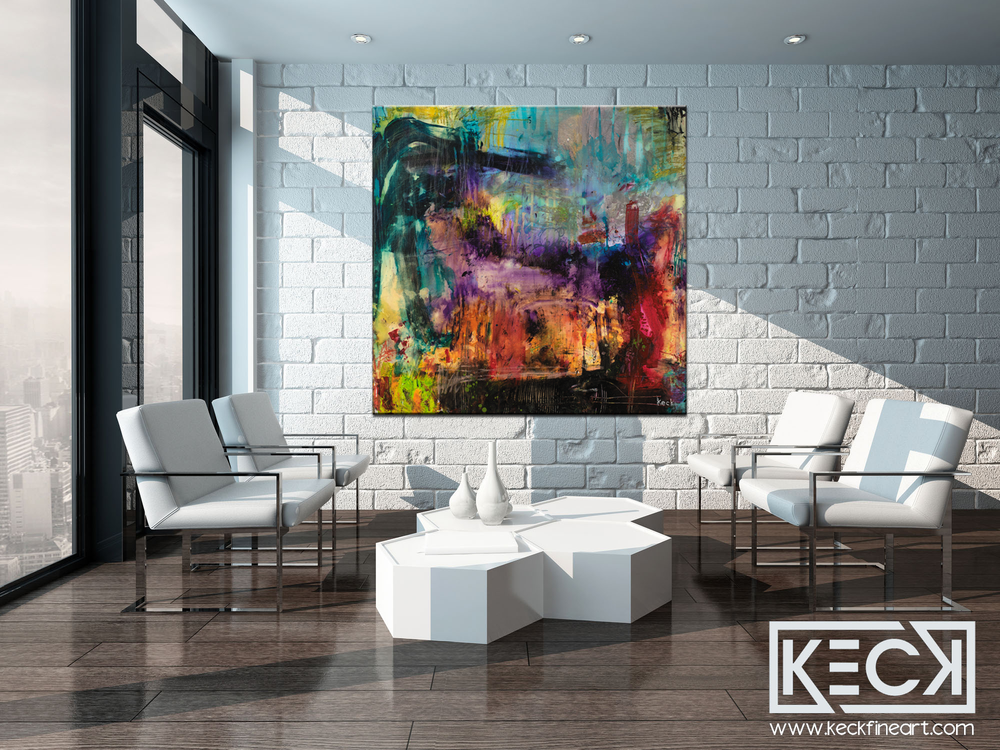COLORFUL ABSTRACT ART BY MICHEL KECK