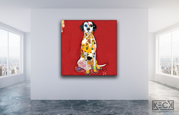Colorful Dalmation Dog Art. Dalmation art prints.  Buy dalmation pop art prints