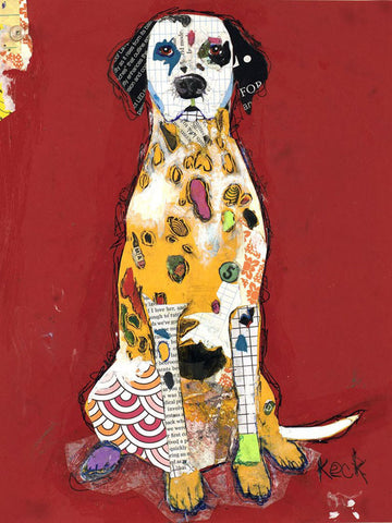 Original Dog Art Collage: Dalmatian