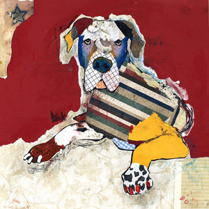 Load image into Gallery viewer, Original Dog Art Collage: Great Dane