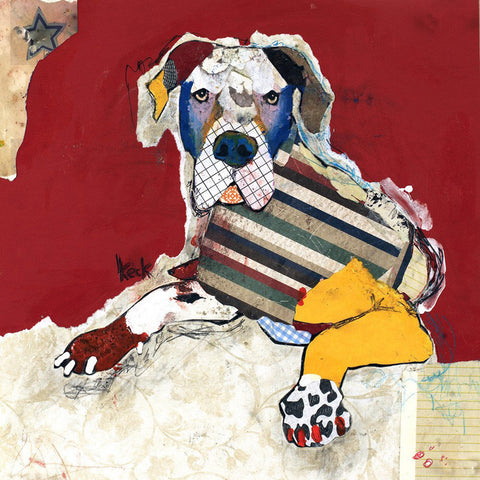 Original Dog Art Collage: Great Dane