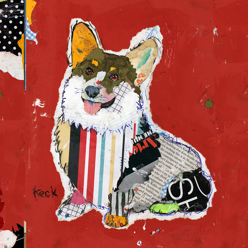 Pembroke Welsh Corgi Dog Art by Michel Keck