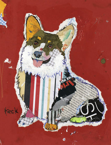 Original Dog Art Collage: Pembroke Welsh Corgi