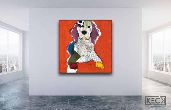 BEAGLE artwork. Modern and colorful beagle canvas and paper art prints.  Beagle art from small to HUGE sizes.