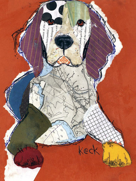 Original Dog Art Collage: Beagle