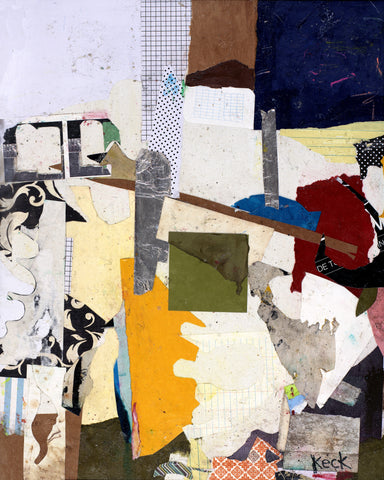 Original Abstract Art Paper Collage: No One Else But Us