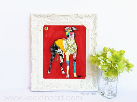 Dog Art of Greyhound II on Paper Print
