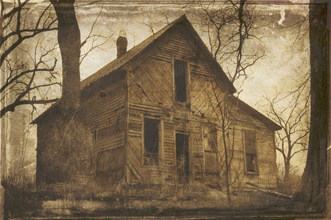 Abandoned Rural American Photography Vintage Film Old Abandoned Farmhouse Photograph On Canvas