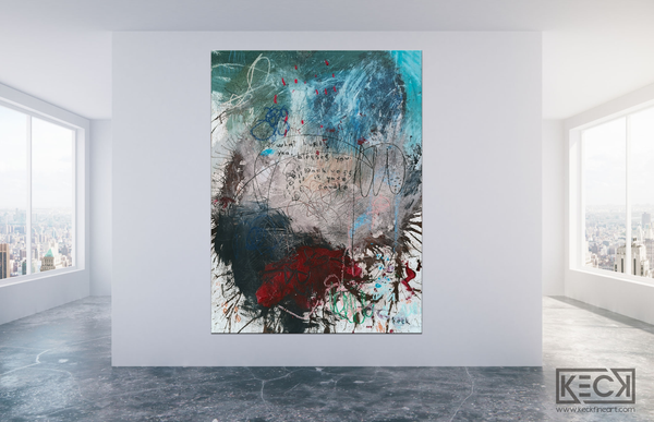 Abstract Canvas Art Print <br>2020 Collection <br>Title:  candle<br> Michel Keck