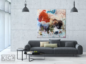 Original Abstract Painting <br>on Gallery Wrapped Canvas<br>2020  Collection <br>Title:  Eight III<br> Michel Keck