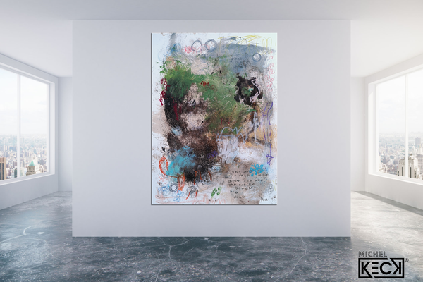 Abstract Canvas Art Print <br>2020 Collection <br>Title:  in a drop<br> Michel Keck