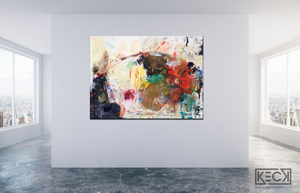 HUGE ABSTRACT CANVAS PRINTS BY MICHEL KECK
