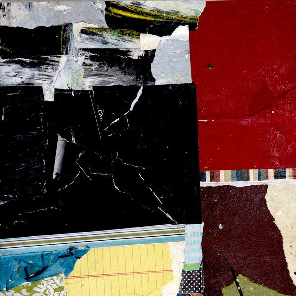Original Abstract Art Paper Collage: HOLD FAST