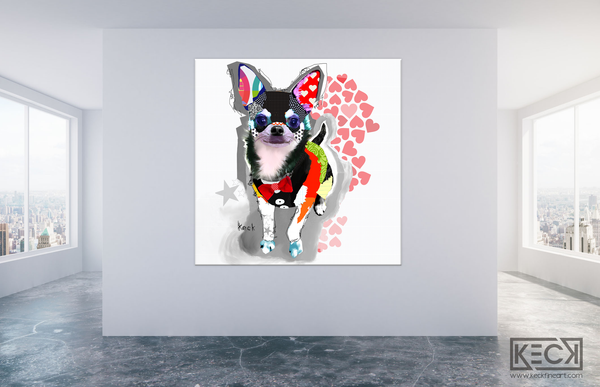 COLORFUL DOG ART - CHIHUAHUA Canvas Dog Art Prints by Michel Keck