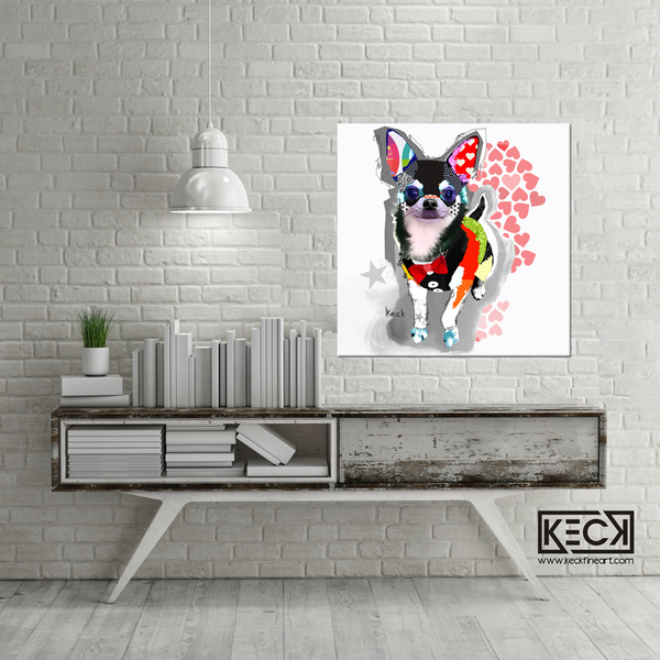 CHIHUAHUA ART: Chihuahua paintings, chihuahua art prints on canvas, chihuahua dog art