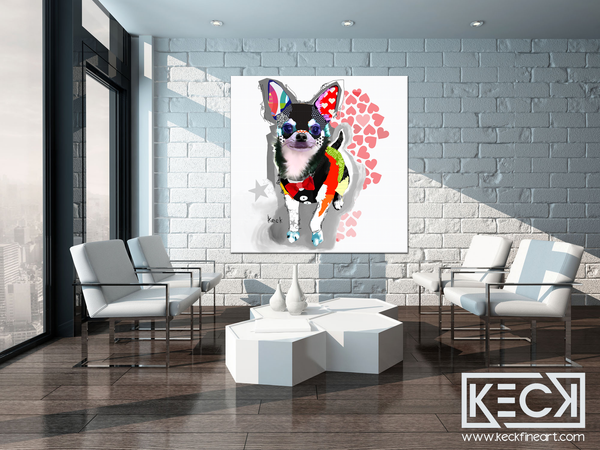 COLORFUL CHIHUAHUA DOG ART PRINTS wholesale and retail