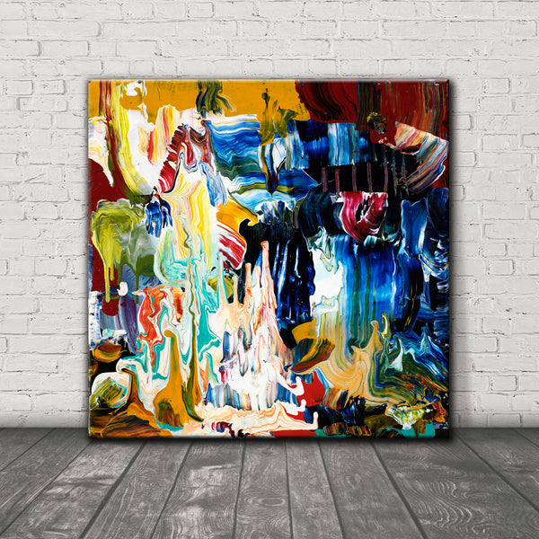 ABSTRACT ART Canvas Print of Wish List III