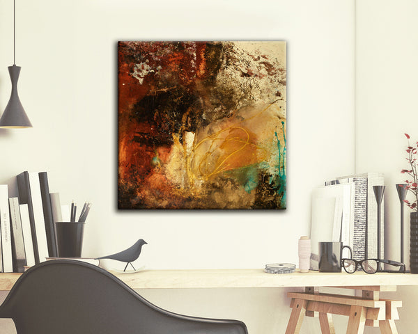 ABSTRACT ART Canvas Print of Where Theres A Will