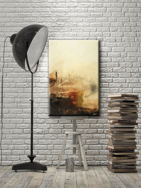 ABSTRACT ART Canvas Print of Unfinished Business